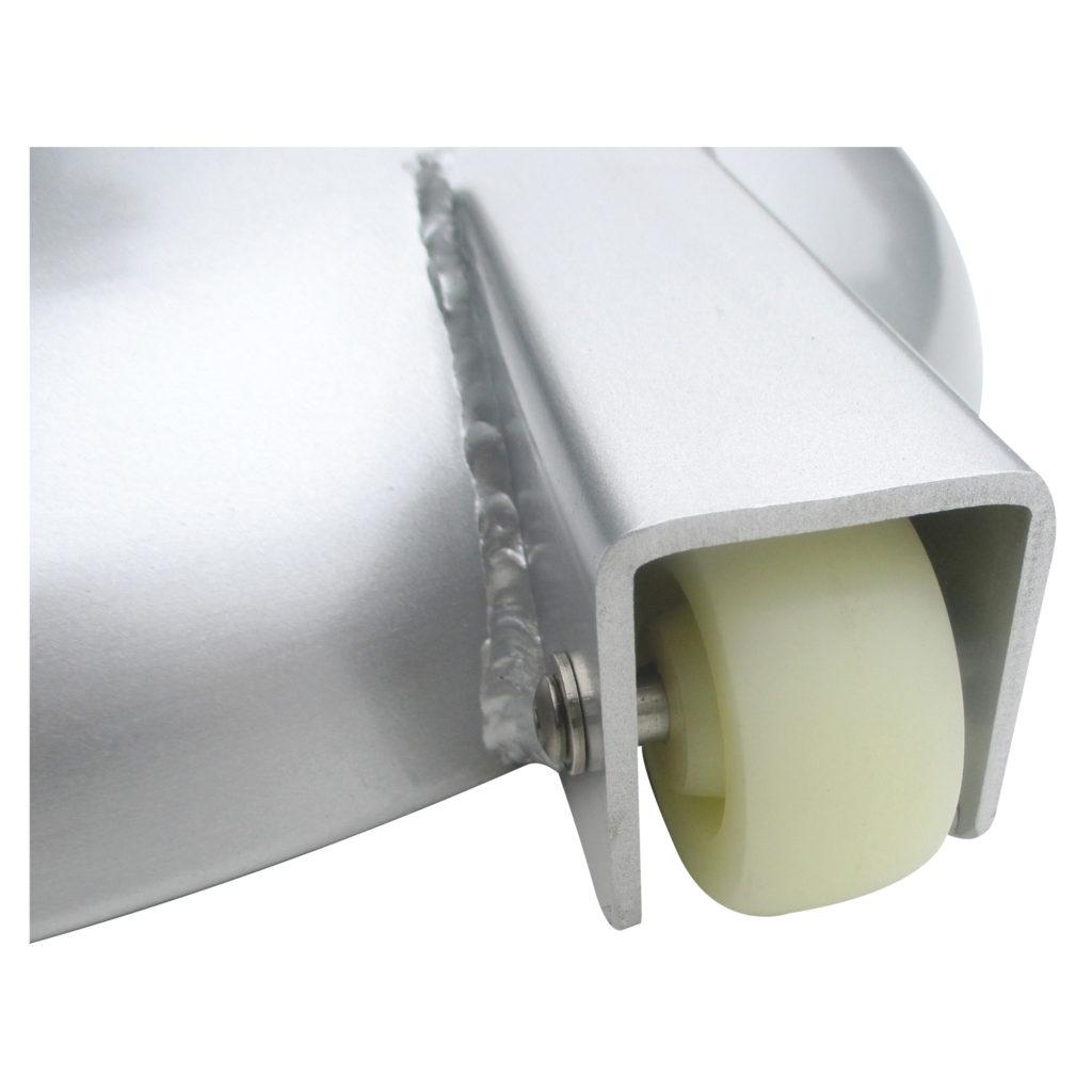 100lb Aluminume Clad Umbrella Base Roller Detail