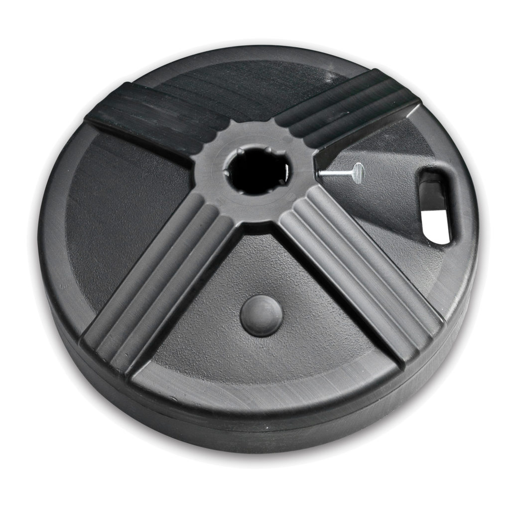 50lb Concrete Umbrella Base Black