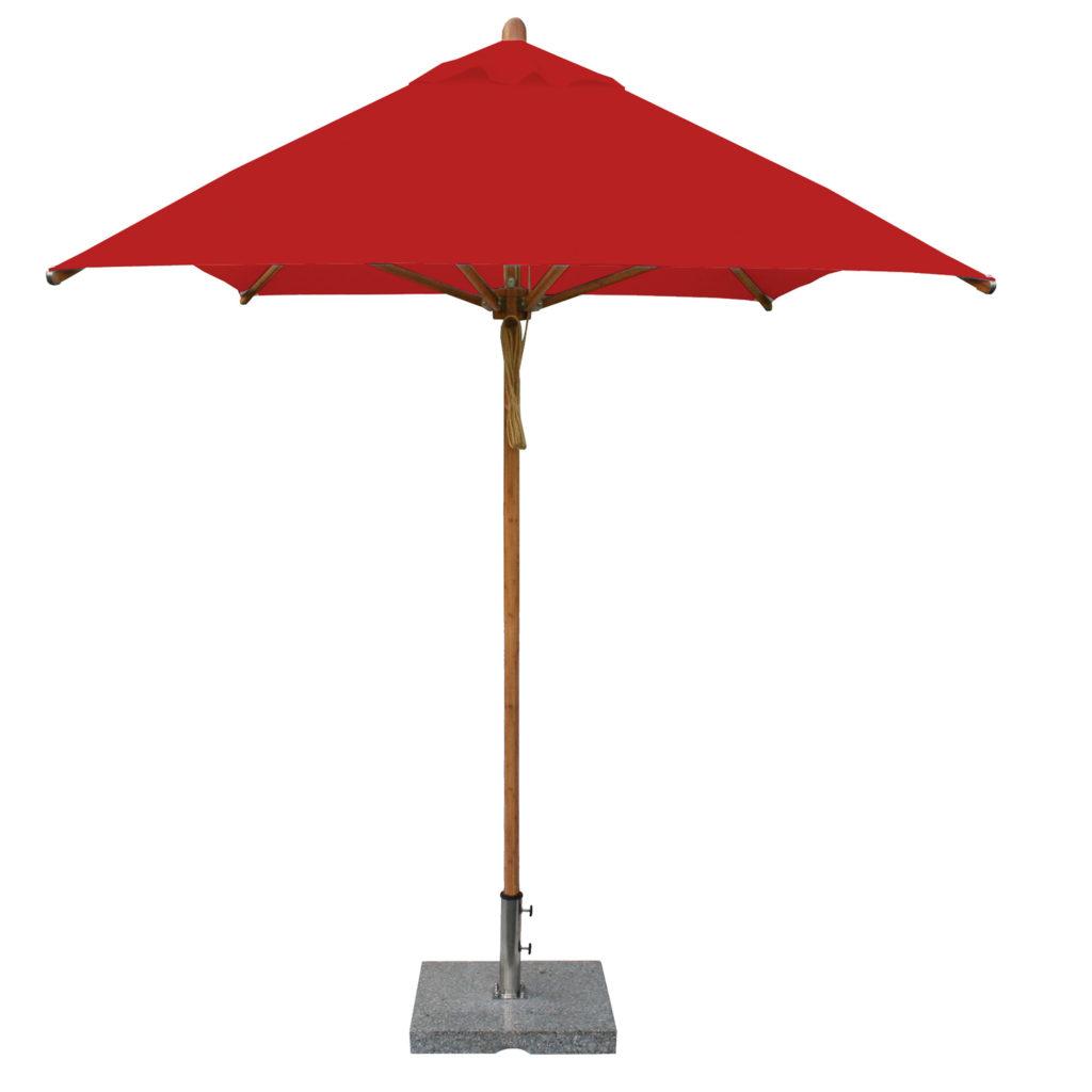 Bambrella red Patio Umbrella