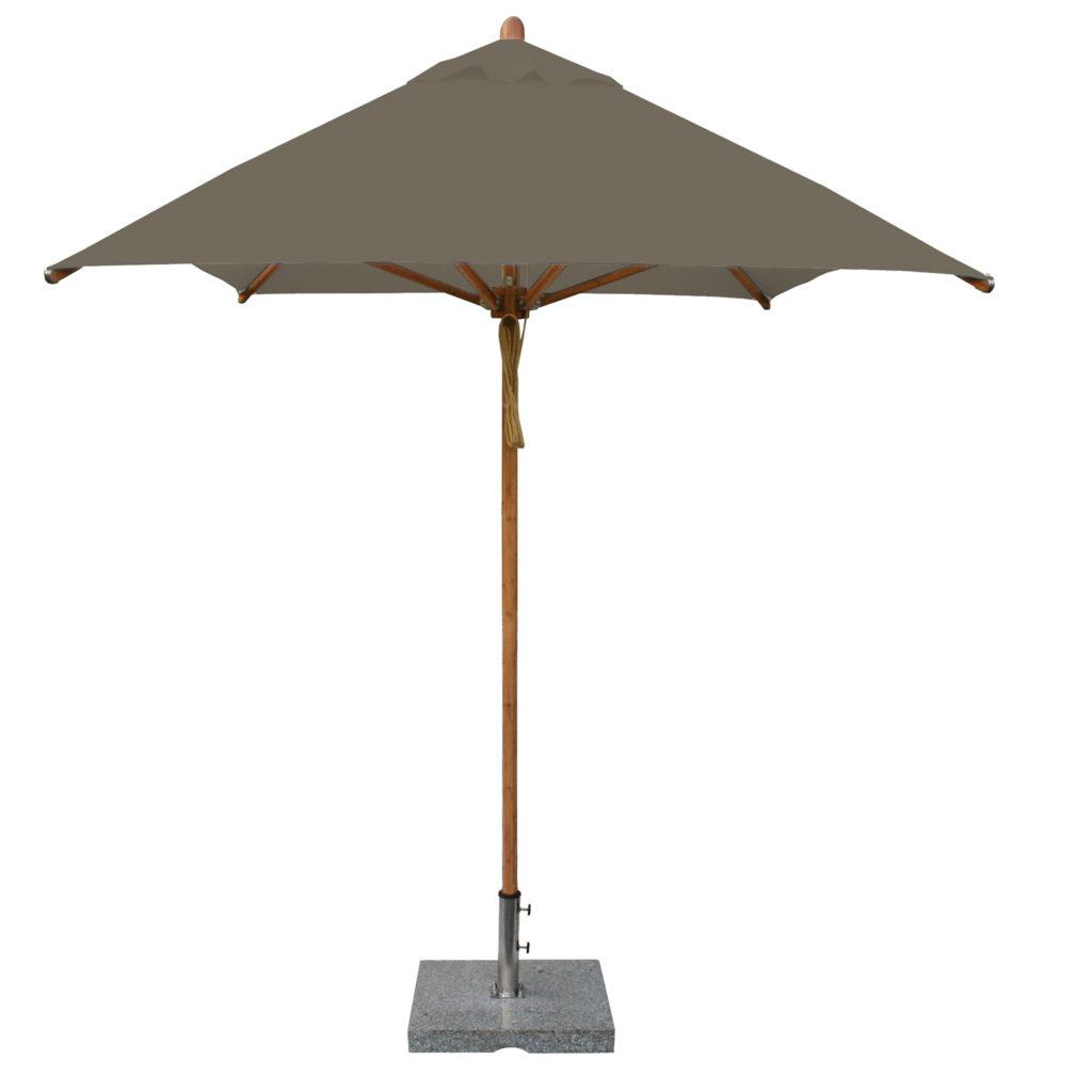 Bambrella taupe Patio Umbrella