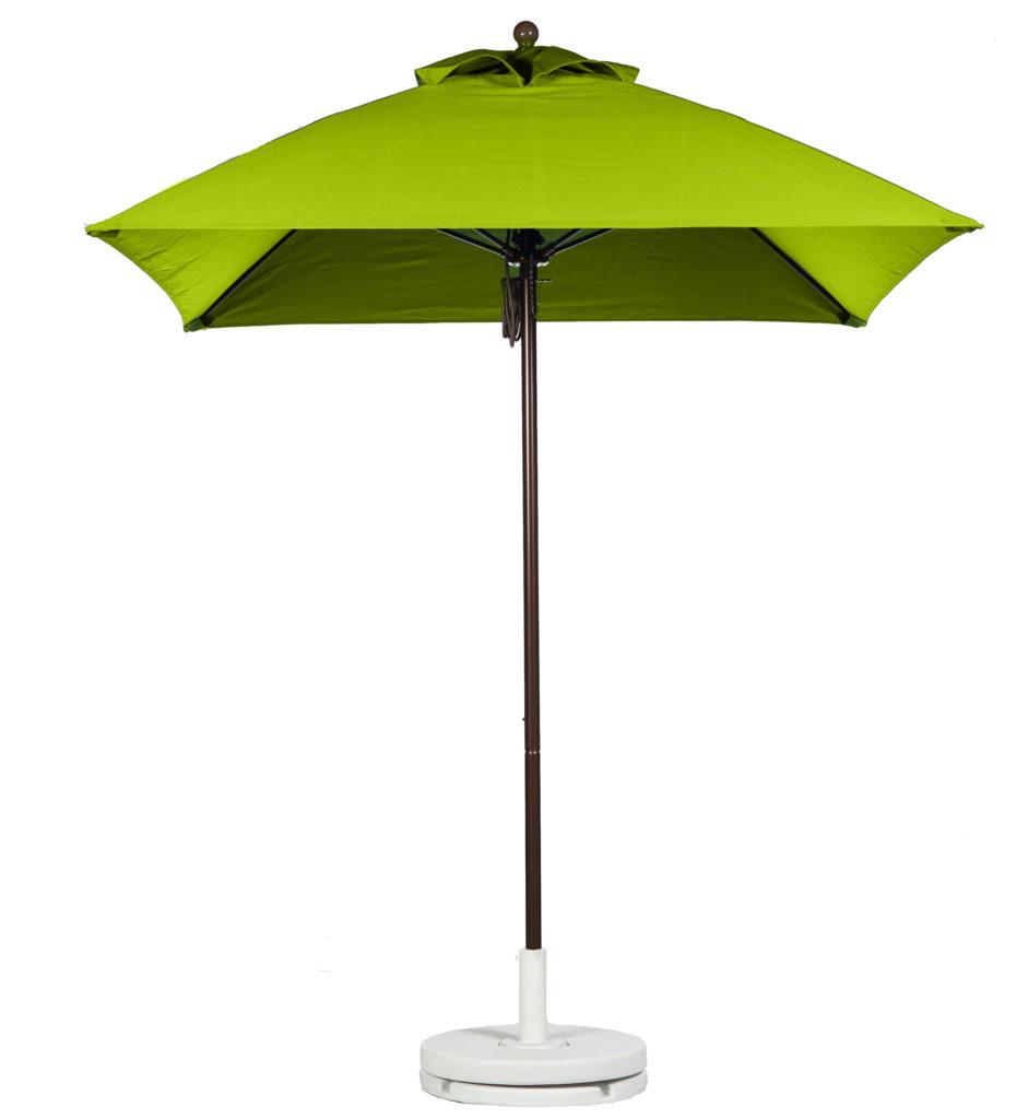 Fiberglass Rib Square Market Umbrella Pistachio