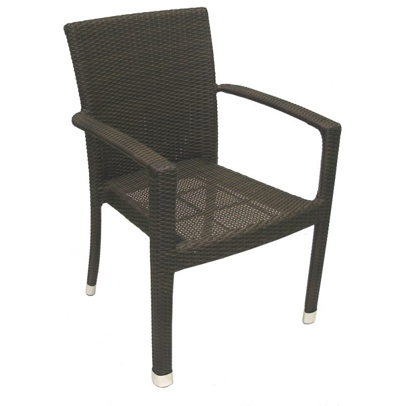 Isabella Armchair Expresso Front