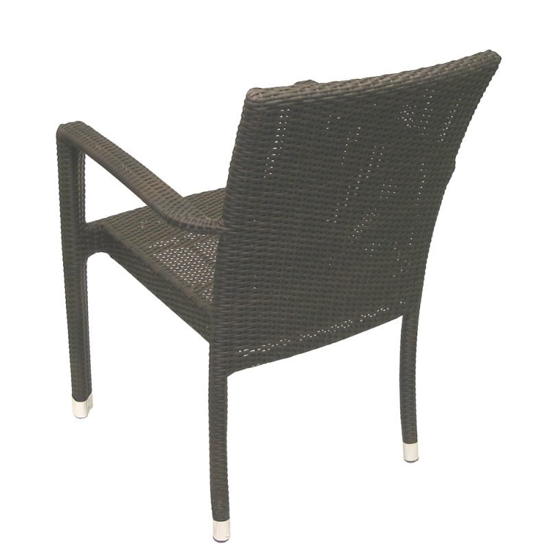 Isabella Armchair Expresso Rear