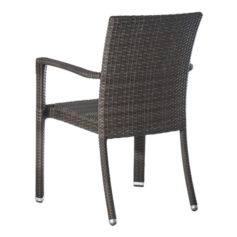 Isabella Armchair Taupe Rear