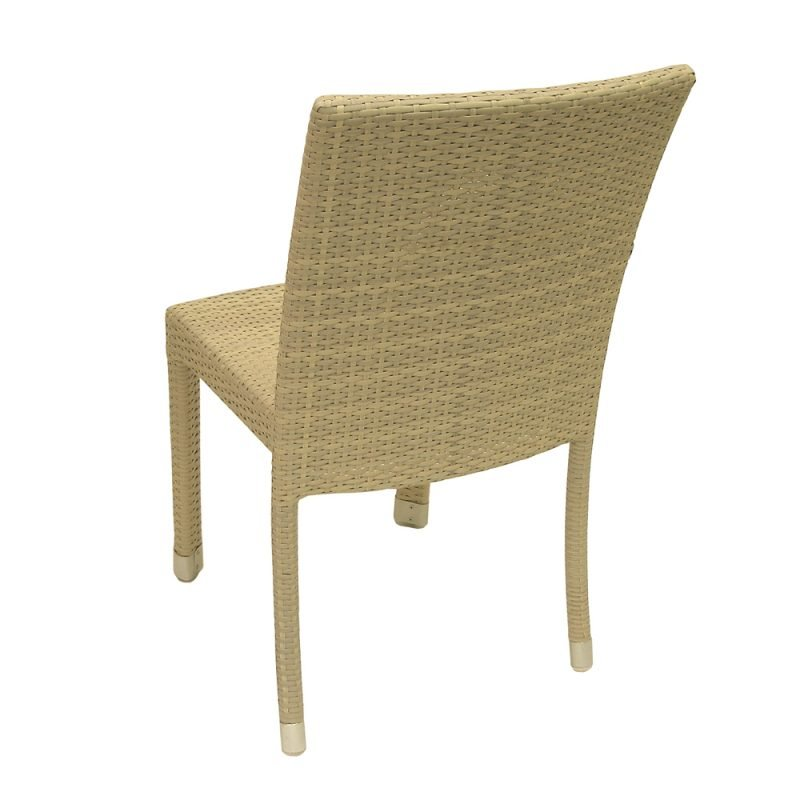 Isabella White Wash Side Chair Back