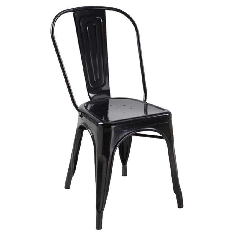 Manhattan Side Chair Black Front