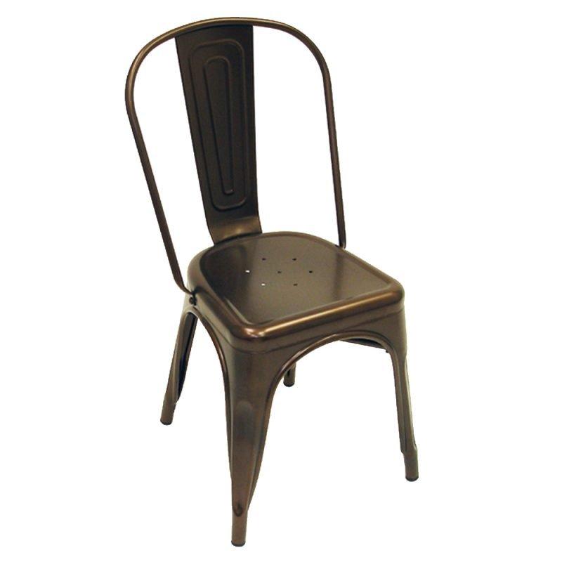 Manhattan Side Chair Bronze Front