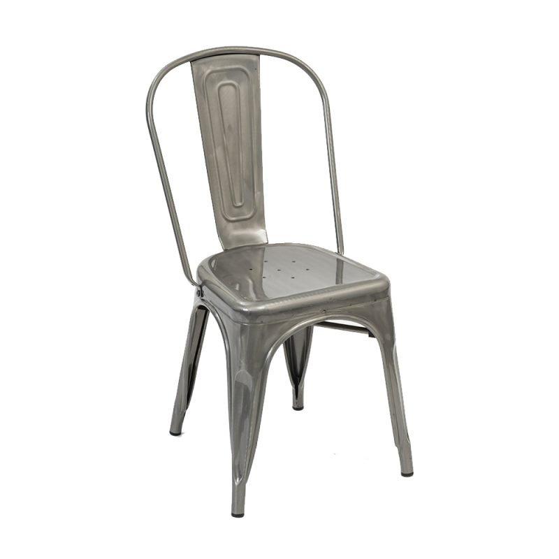 Manhattan Side Chair Clear Front