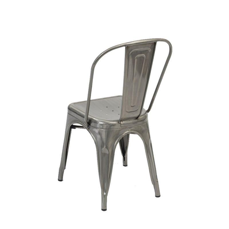 Manhattan Side Chair Clear Rear