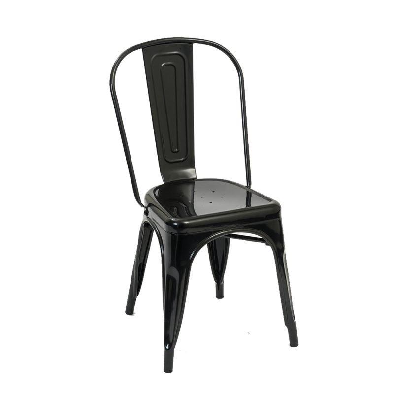 Manhattan Side Chair Gunmetal Front