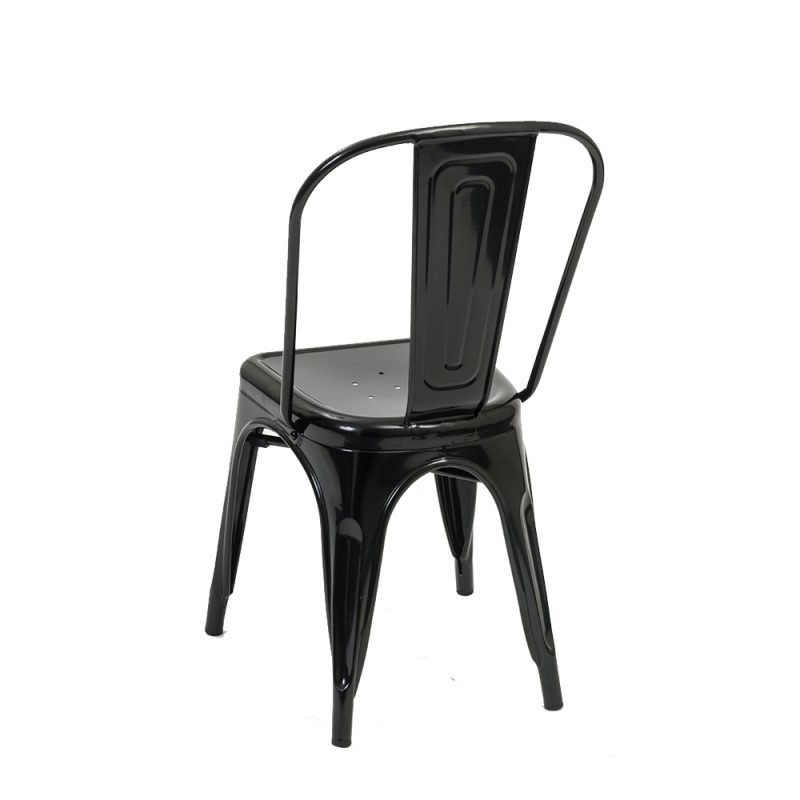 Manhattan Side Chair Gunmetal Rear