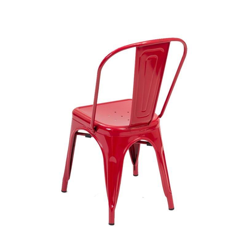 Manhattan Side Chair Red Rear
