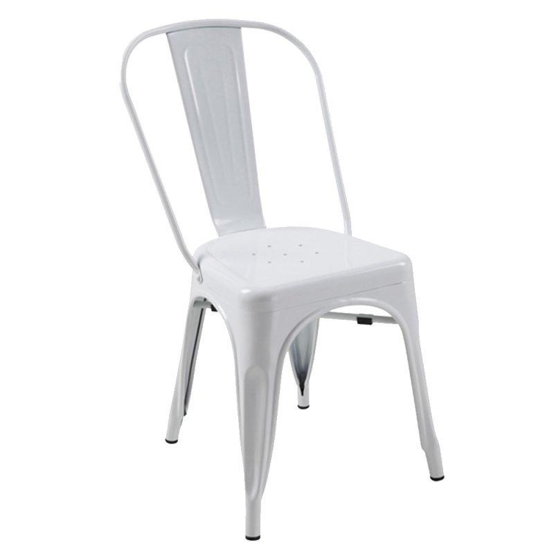 Manhattan Side Chair White Front