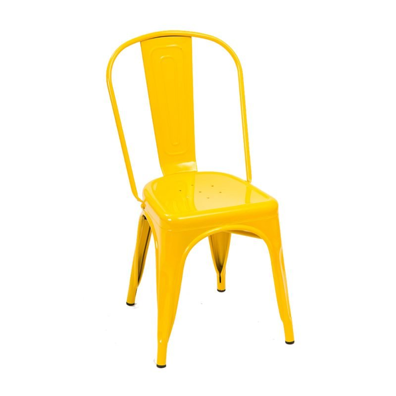 Manhattan Side Chair Yellow Front