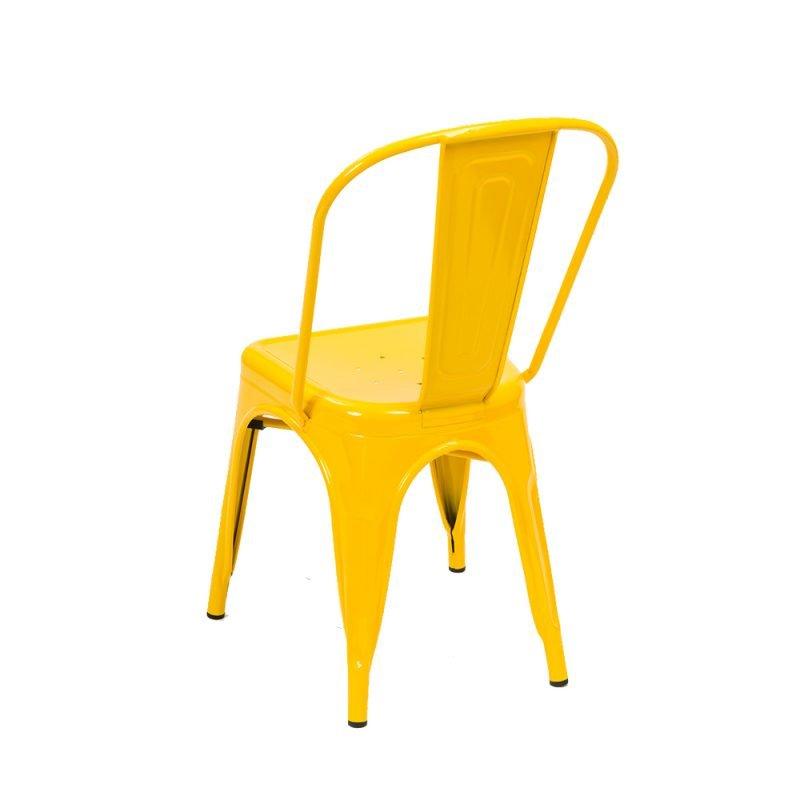 Manhattan Side Chair Yellow Rear