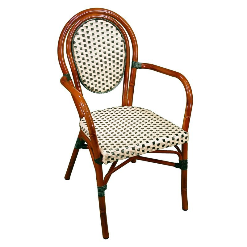 Parisienne Armchair Ivory Green Front View