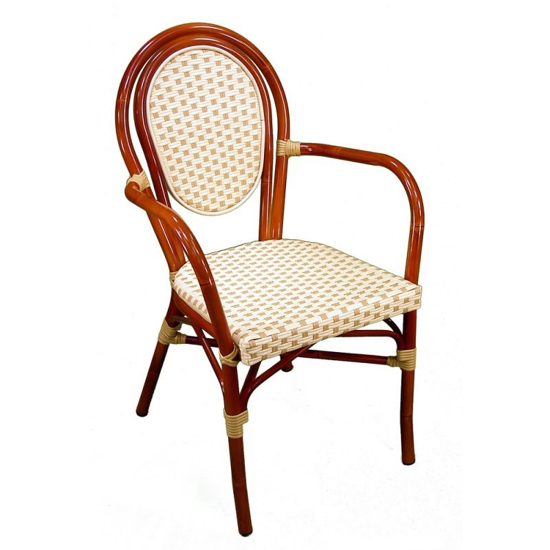 Parisienne Armchair Ivory Honey Front View