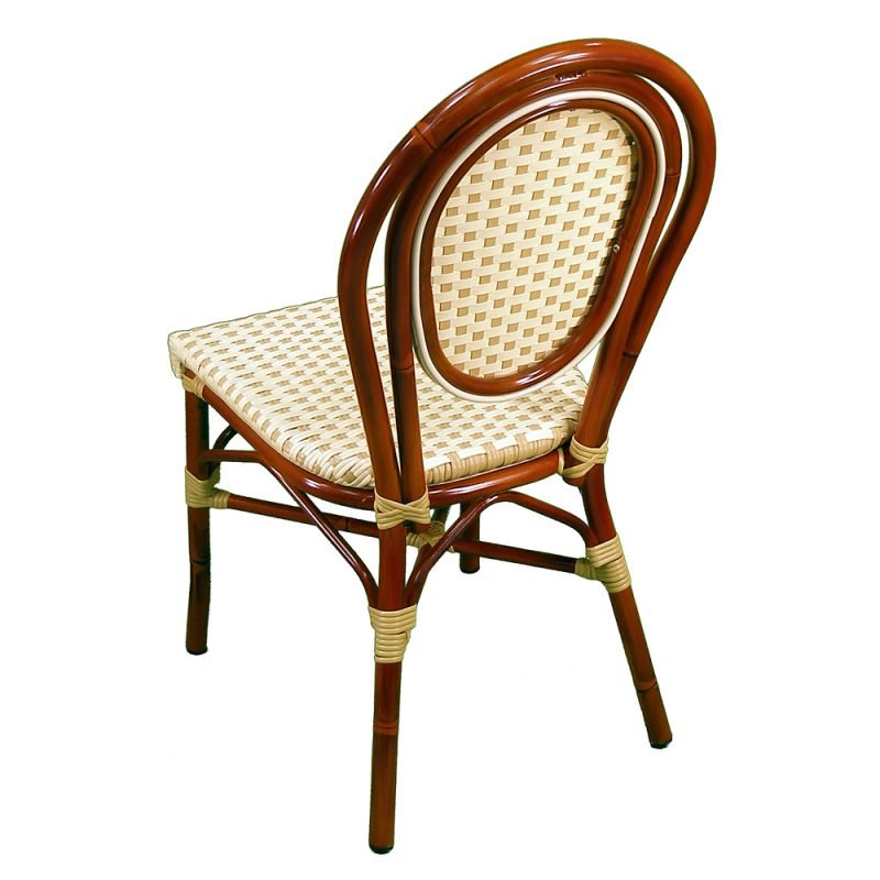 Parisienne Side Chair Ivory Honey Back