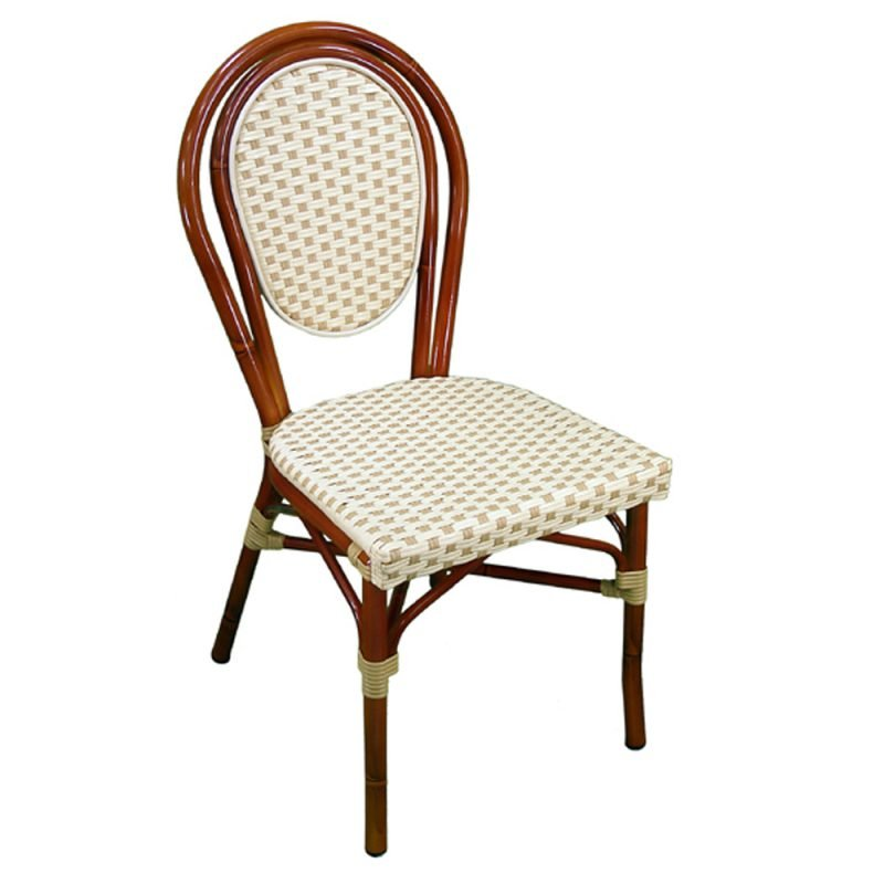 Parisienne Side Chair Ivory Honey Front