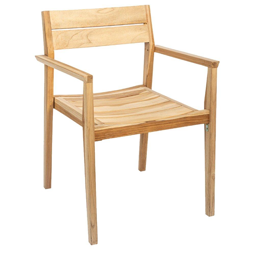 Parsons Stackable Teak Armchair