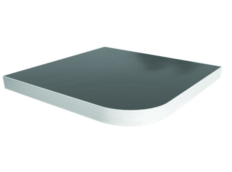 Solid Surface Laminate Aluminum Edge Smooth Table Top