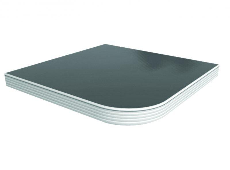 Solid Surface Laminate Alumium Edge Fluted Table Top