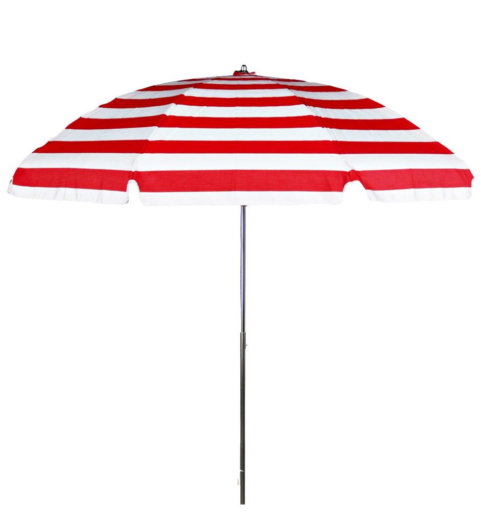 Steel Rib Patio Umbrella Red Stripe