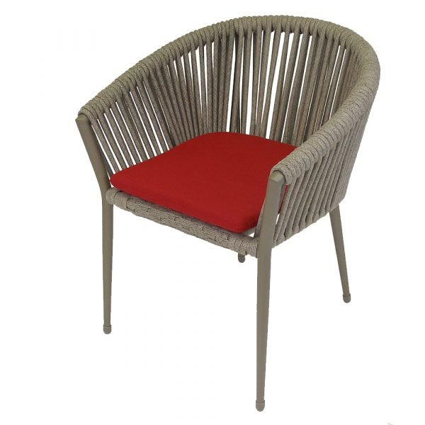 Venice Rope Chair Red Front