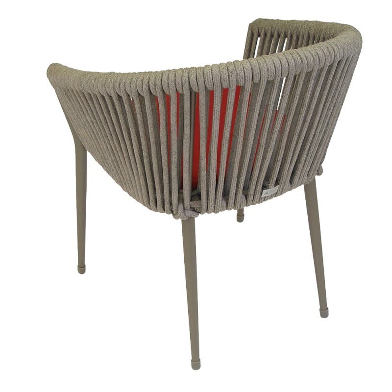 Venice Rope Chair Red Rear