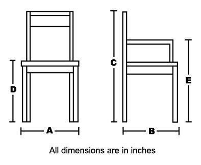 chair dimensions arm chair