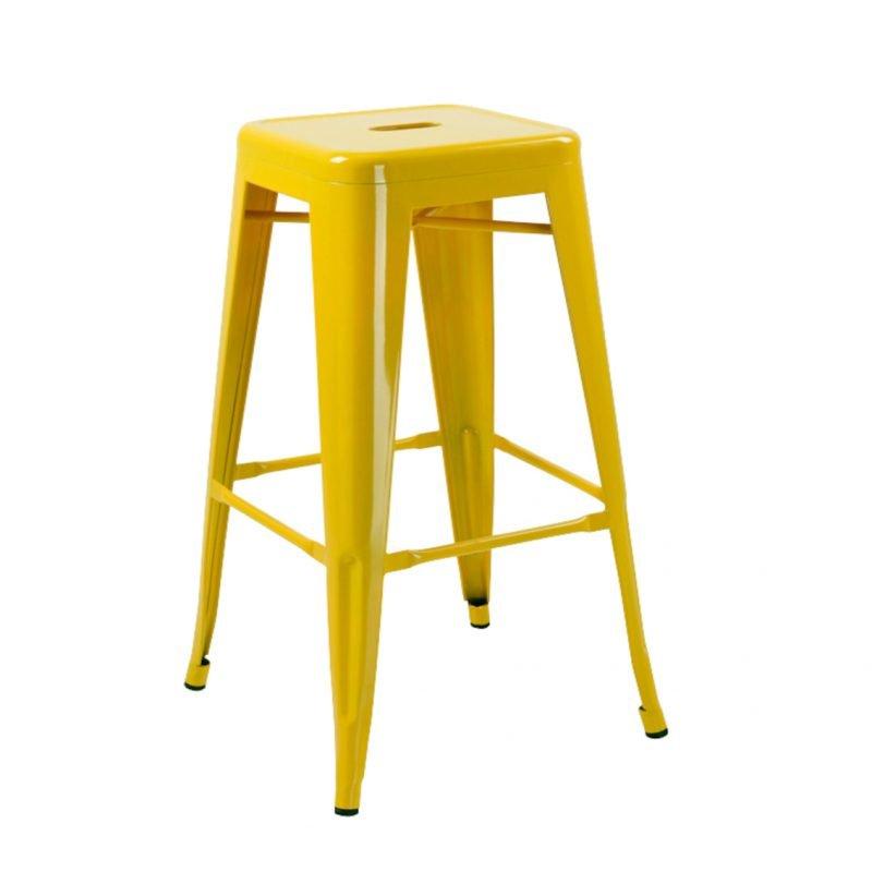 Manhattan Bar Stool Backless Yellow