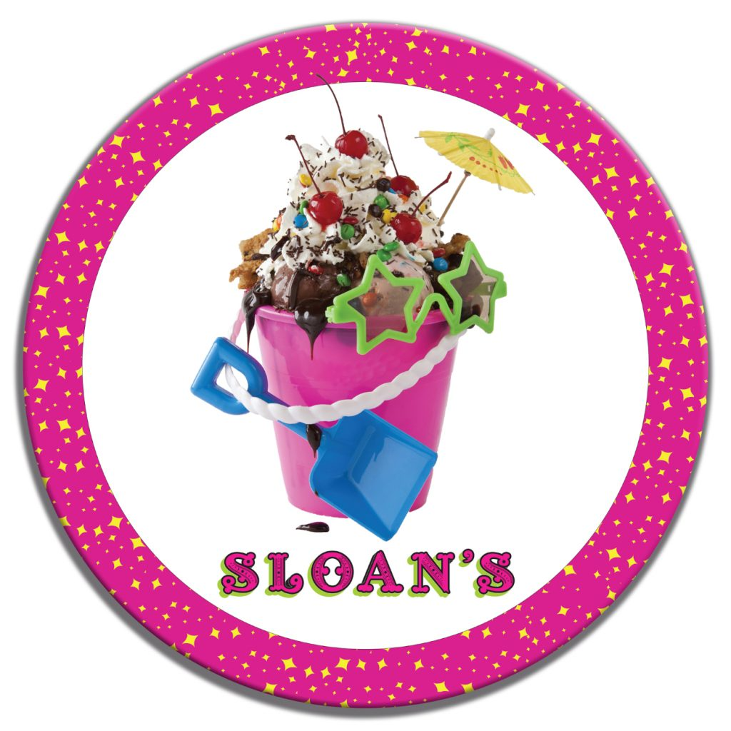 Sloans Ice Cream Beach Pale Custom Table Top