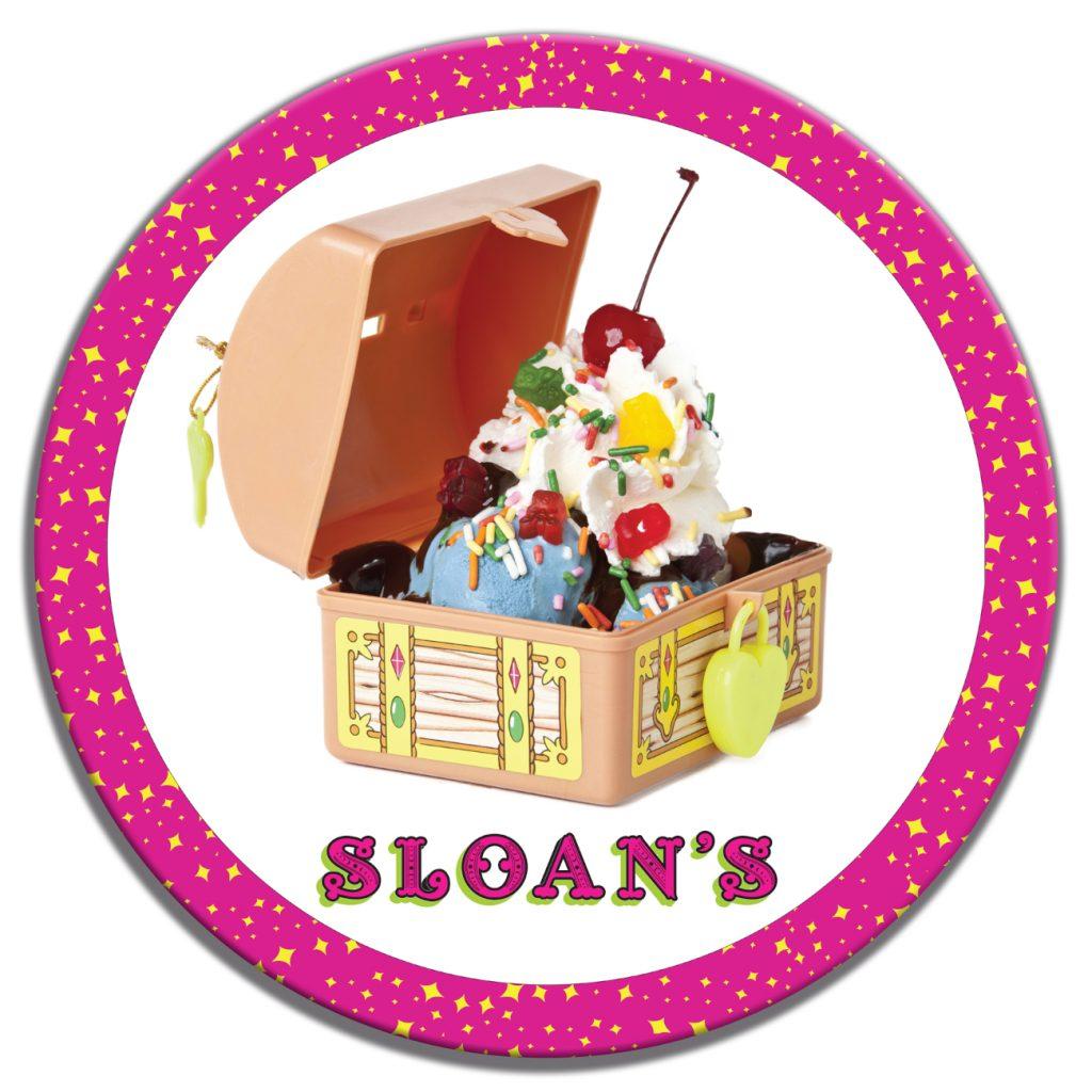 Sloans Ice Cream Treasure Chest Custom Table Top