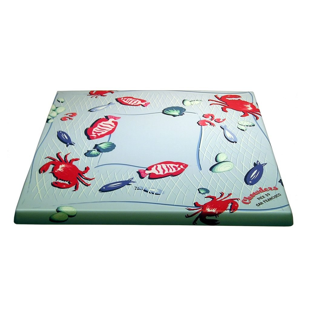 Chowder Custom Restaurant Table Top